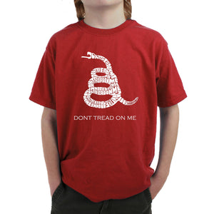 LA Pop Art Boy's Word Art T-shirt - DONT TREAD ON ME