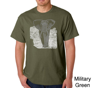 LA Pop Art Men's Word Art T-shirt - ELEPHANT