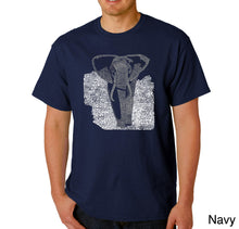 Load image into Gallery viewer, LA Pop Art Men's Word Art T-shirt - ELEPHANT