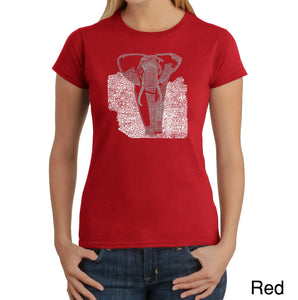 LA Pop Art Women's Word Art T-Shirt - ELEPHANT