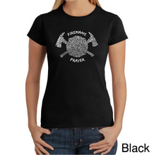 Load image into Gallery viewer, LA Pop Art Women's Word Art T-Shirt - FIREMAN'S PRAYER