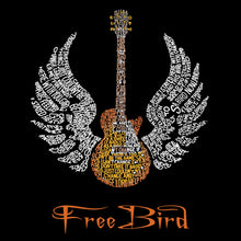 Load image into Gallery viewer, LA Pop Art Men's Premium Blend Word Art T-shirt - LYRICS TO FREE BIRD