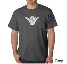 Load image into Gallery viewer, LA Pop Art Men's Word Art T-shirt - TOP WORLDWIDE SURFING SPOTS