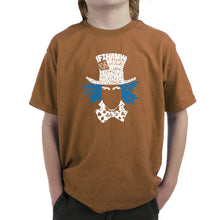Load image into Gallery viewer, LA Pop Art Boy's Word Art T-shirt - The Mad Hatter