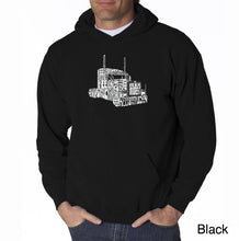 Load image into Gallery viewer, LA Pop Art Men's Word Art Hooded Sweatshirt - KEEP ON TRUCKIN'