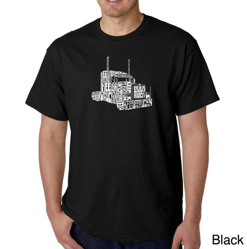 LA Pop Art Men's Word Art T-shirt - KEEP ON TRUCKIN'