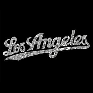 LA Pop Art Men's Word Art T-shirt - LOS ANGELES NEIGHBORHOODS