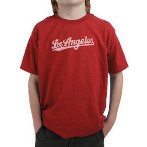 LA Pop Art Boy's Word Art T-shirt - LOS ANGELES NEIGHBORHOODS