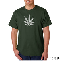 Load image into Gallery viewer, LA Pop Art Men's Word Art T-shirt - 50 DIFFERENT STREET TERMS FOR MARIJUANA