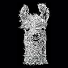 Load image into Gallery viewer, LA Pop Art Women's Word Art T-Shirt - Llama