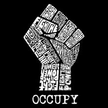 Load image into Gallery viewer, LA Pop Art Men's Word Art T-shirt - OCCUPY WALL STREET - FIGHT THE POWER