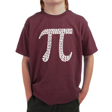 Load image into Gallery viewer, LA Pop Art Boy's Word Art T-shirt - THE FIRST 100 DIGITS OF PI