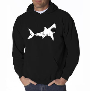 LA Pop Art Men's Word Art Hooded Sweatshirt - BITE ME