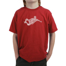 Load image into Gallery viewer, LA Pop Art Boy's Word Art T-shirt - POPULAR SKATING MOVES & TRICKS