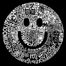 Load image into Gallery viewer, LA Pop Art Men's Word Art Hooded Sweatshirt - SMILE IN DIFFERENT LANGUAGES