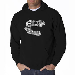 LA Pop Art Men's Word Art Hooded Sweatshirt - TREX