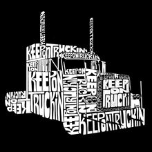 Load image into Gallery viewer, LA Pop Art Women's Dolman Word Art Shirt - KEEP ON TRUCKIN'