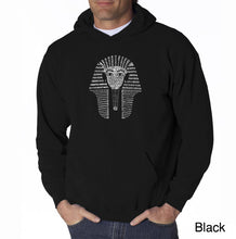 Load image into Gallery viewer, LA Pop Art Men's Word Art Hooded Sweatshirt - KING TUT
