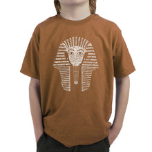 Load image into Gallery viewer, LA Pop Art Boy's Word Art T-shirt - KING TUT