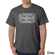 Load image into Gallery viewer, LA Pop Art Men's Word Art T-shirt - UNION JACK