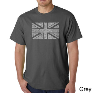 LA Pop Art Men's Word Art T-shirt - UNION JACK