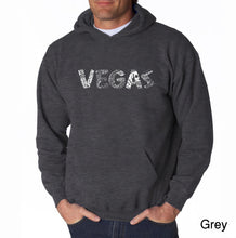 Load image into Gallery viewer, LA Pop Art Men's Word Art Hooded Sweatshirt - VEGAS