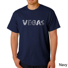 Load image into Gallery viewer, LA Pop Art Men's Word Art T-shirt - VEGAS