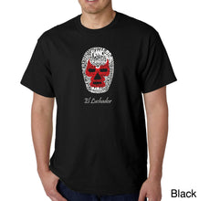 Load image into Gallery viewer, LA Pop Art Men's Word Art T-shirt - MEXICAN WRESTLING MASK