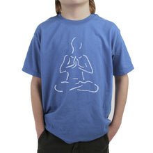 Load image into Gallery viewer, LA Pop Art Boy's Word Art T-shirt - POPULAR YOGA POSES