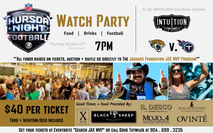 Thursday Night Football Watch Party @ Intuition Ale Works