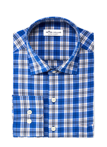 Delbert Plaid Performance Sport Shirt