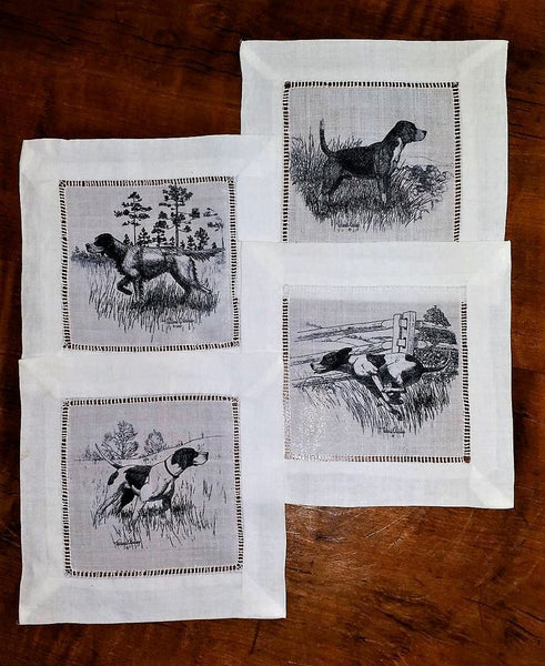 Sporting Dogs Cocktail Napkins Set of 4