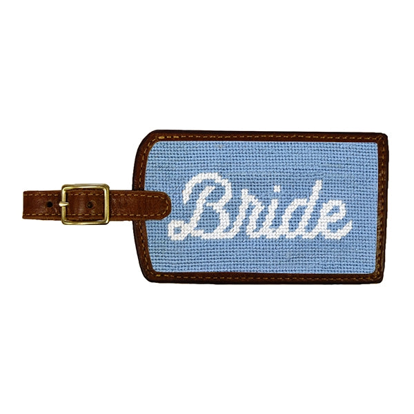 Bride Needlepoint Luggage Tag