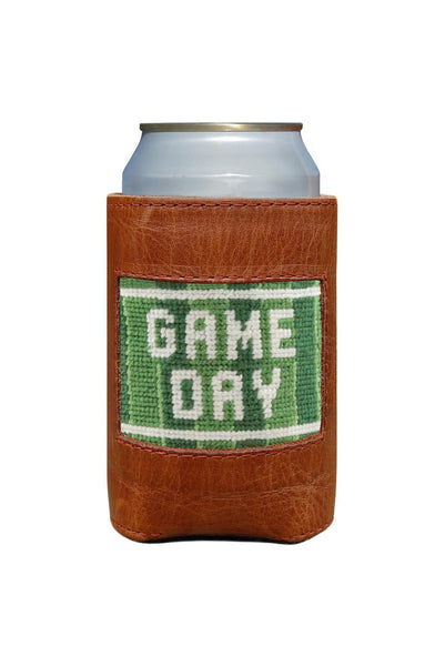 Game Day Leather Needlepoint Koozie