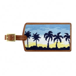 Oasis Needlepoint Luggage Tag
