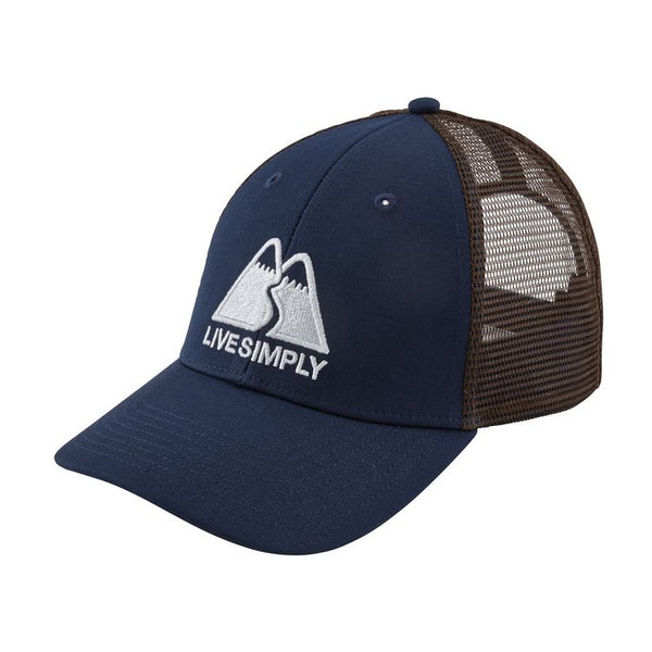 Live Simply Winding LoPro Trucker Hat Navy