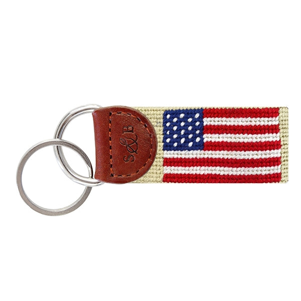 American Flag (Light Khaki) Key Fob