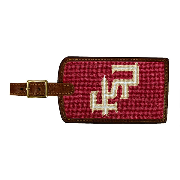 Florida State University Needlepoint Luggage Tag