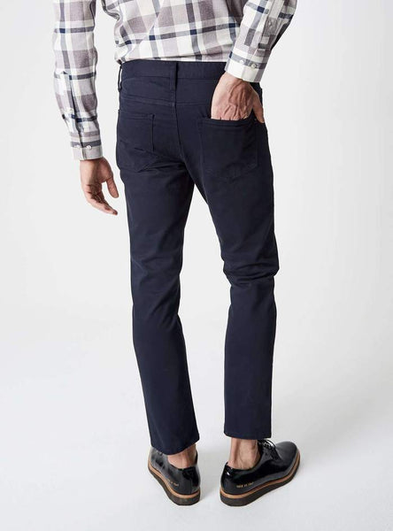 Clifton 5 Pocket Sateen Twill Pant - Navy