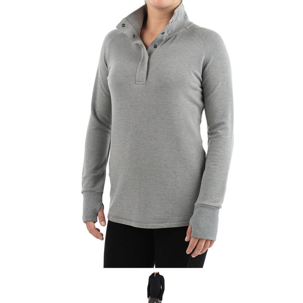 Ws Bamboo Thermal Fleece Pullover