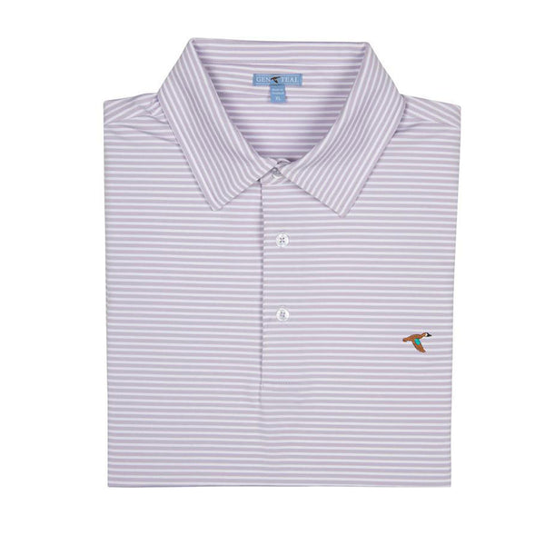 Clubhouse Stripe Self Collar Polo