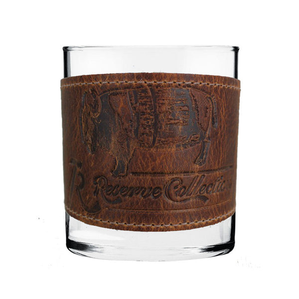 Bison Wrapped Bourbon Glass