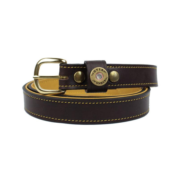 Deerskin Lined Leather Belt