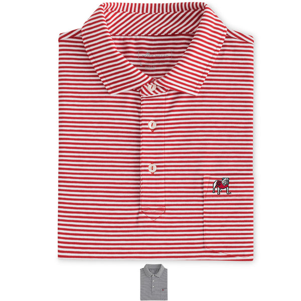 Major Seaside Stripe Pocket Polo UGA