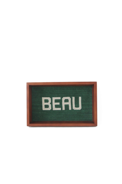 BEAU Needlepoint Valet Tray
