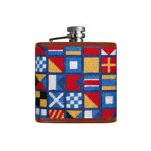 Nautical Alphabet Flask