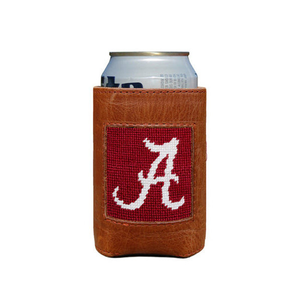 University of Alabama Leather Needlepoint Koozie