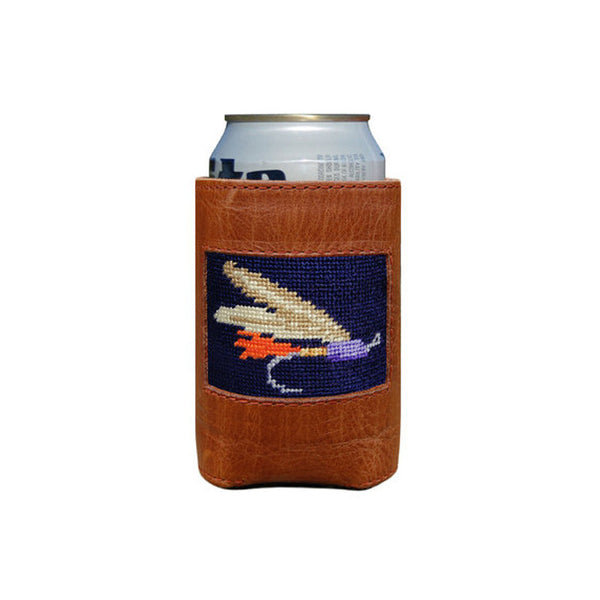 Fishing Fly Leather Koozie