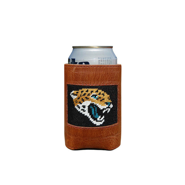 Jacksonville Jaguars Leather Needlepoint Koozie