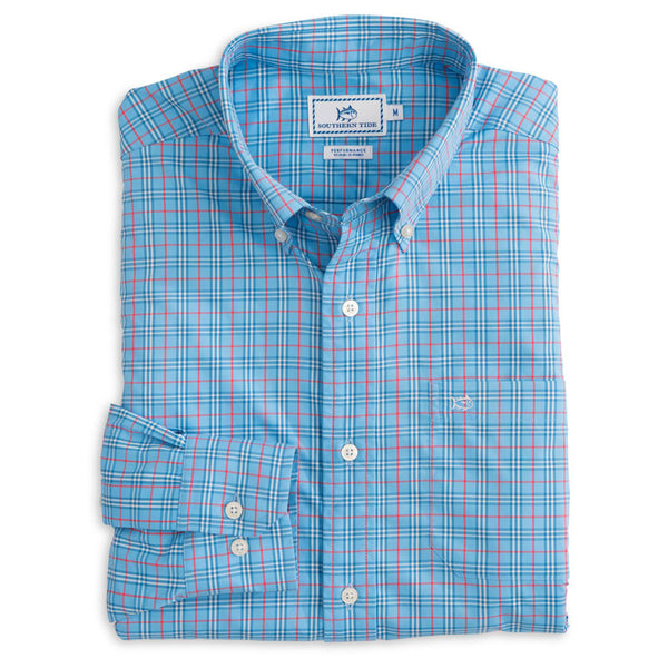 Ocean Highway Plaid Performance Shirt